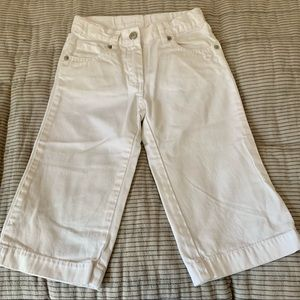 JANIE AND JACK White Cotton Pants